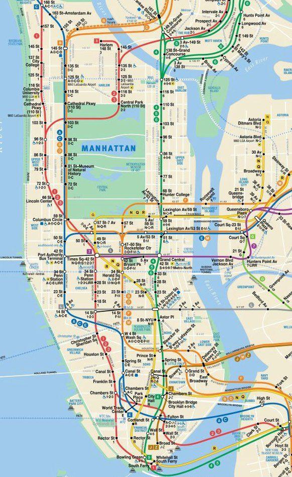 Carte du métro de New York – Voyageurs Sans Frontières