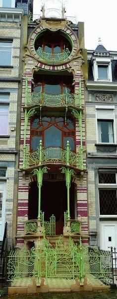 France | Hector Guimard's Art Nouveau Café Antoine, 17 rue La Fontaine, Par…